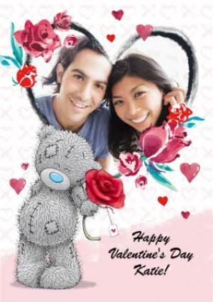 Greeting Cards - Carte Blanche Valentines Day Heart Photo Upload Card - Image 1