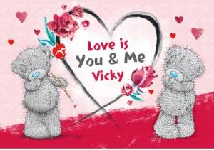 Greeting Cards - Carte Blanche You & Me Personalised Valentines Card - Image 1