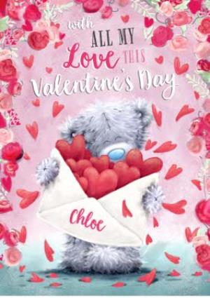 Greeting Cards - Carte Blanche All My Love Personalised Valentines Card - Image 1