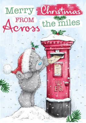 Greeting Cards Me To You Tatty Teddy Across The Miles Personalised Christmas Card Image