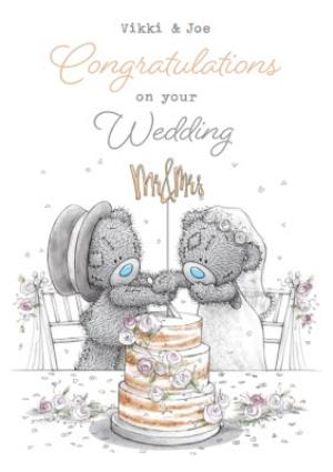 Me To You Tatty Teddy Congratulations On Your Wedding Day Mr Mrs