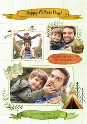 Greeting Cards - Camping In The Great Outdoors Multi-Photo Card - Image 1