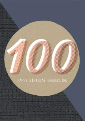 Greeting Cards - Big Numbers 100Th Birthday Card - Image 1
