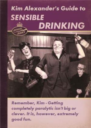 Greeting Cards - A Guide To Sensible Drinking Personalised Birthday Card - Image 1