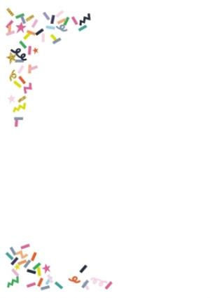 Greeting Cards - Colourful Confetti Photo And Personalised Text Card - Image 2