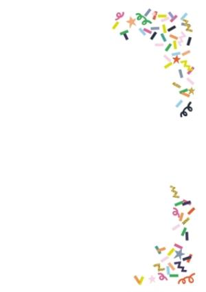 Greeting Cards - Colourful Confetti Photo And Personalised Text Card - Image 3