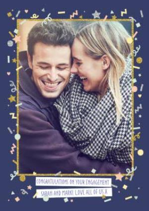 Greeting Cards - Customised Photo Engagement Card - Image 1