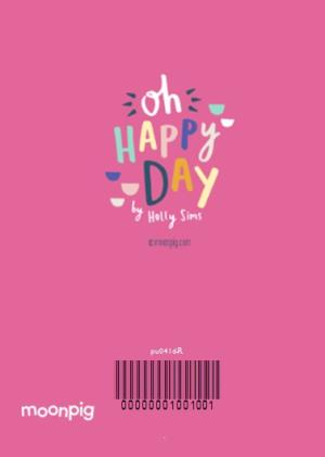 Greeting Cards - Bright Pink Photo Happy Birthday Card - Image 4