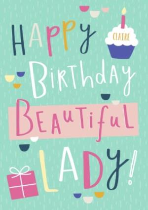 happy birthday to a beautiful lady Happy Birthday Beautiful Lady Card | Moonpig happy birthday to a beautiful lady