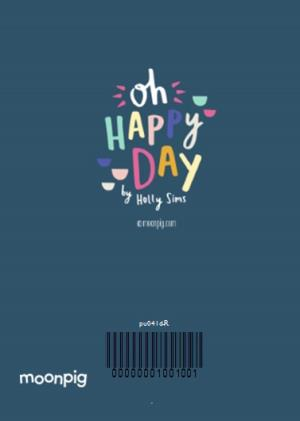 Greeting Cards - Colourful Dashes Happy Birthday Photo Card - Image 4