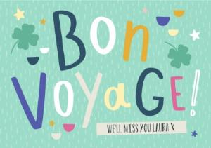 Greeting Cards - Bon Voyage Personalised Card - Image 1