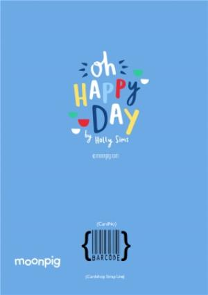 Greeting Cards - Bright Blue To The Best Dad Photo Card - Image 4