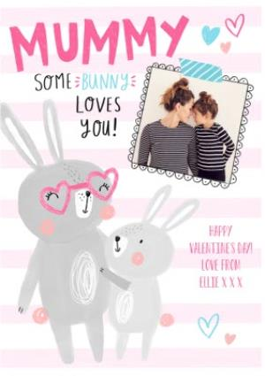 Greeting Cards - Cute Personalised Valentine's Day To My Mummy Photo Card - Image 1