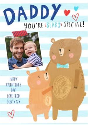 Greeting Cards - Cute Personalised Valentine's Day To My Daddy Photo Card - Image 1