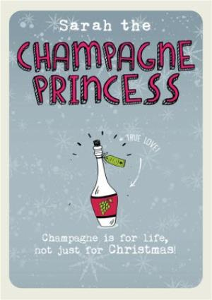 Greeting Cards - Champagne Princess Christmas Card - Image 1