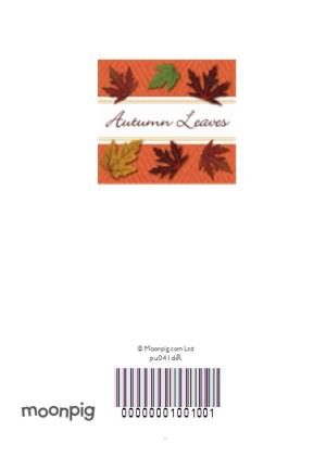 Greeting Cards - Fallen Leaves Personalised Happy Thanksgiving Card - Image 4