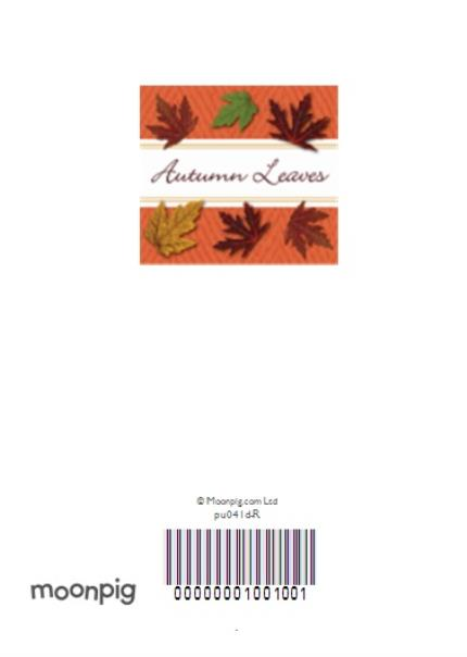 Greeting Cards - Autumn Leaves Traditional Winters Family Personalised Happy Thanksgiving Invitation Card - Image 4