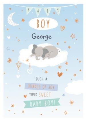 Greeting Cards - Cute New Baby Boy Card  - Image 1
