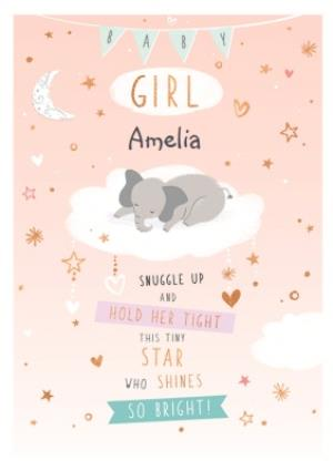 Greeting Cards - Cute New Baby Girl Card  - Image 1