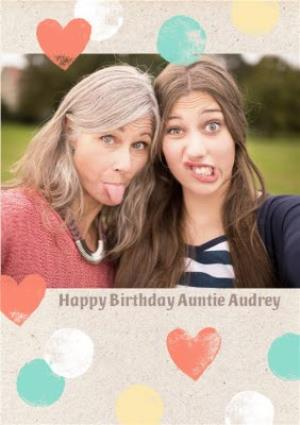 Greeting Cards - Birthday Card - Photo Upload Card - Auntie - Image 1