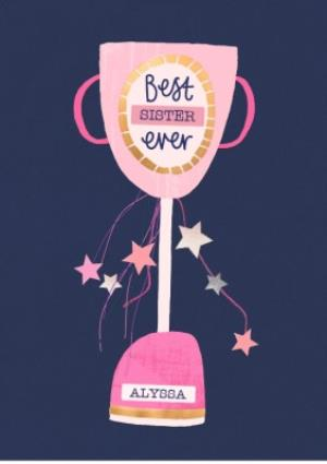 Greeting Cards - Female birthday card - best sister - trophy - Image 1