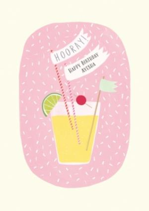 Greeting Cards - Delicious Cocktail Personalised Birthday Card - Image 1