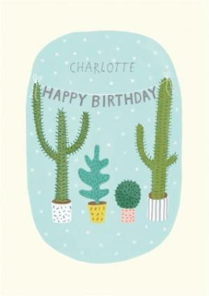 Greeting Cards - Cacti Personalised Birthday Card - Image 1