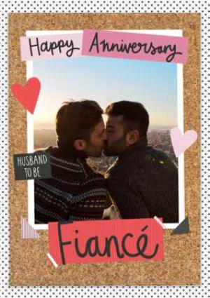 Greeting Cards - Anniversary Card - Husband To be - Fiance - Photo Upload - Image 1