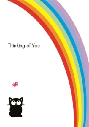 Greeting Cards - Bright Rainbow Thinking Of You Card - Image 1