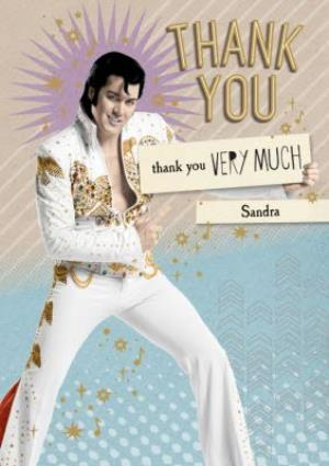 Greeting Cards - Elvis Personalised Thank You Very Much Card - Image 1