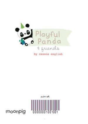 Greeting Cards - Cartoon Panda Personalised Happy Birthday Card - Image 4