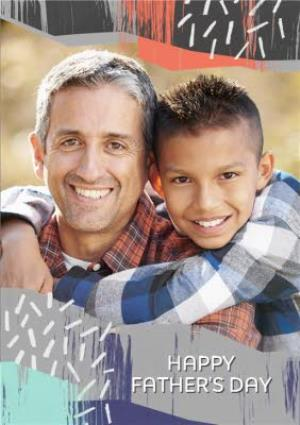 Greeting Cards - Colourful Happy Fathers Day Photo Card - Image 1