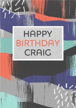 Greeting Cards - Colourful Strokes Personalised Happy Birthday Card - Image 1