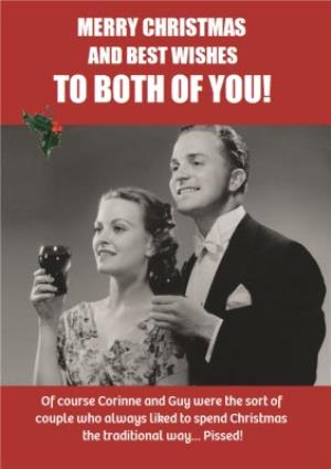 Greeting Cards - Drinking During The Festive Season Funny Happy Birthday Card - Image 1