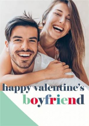 Greeting Cards - Colourful Letters Boyfriend Valentine's Day Photo Card - Image 1