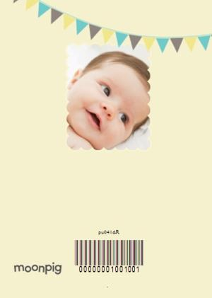 Greeting Cards - Our Little Man With Bunting Personalised Christening Day Card - Image 4