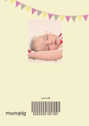 Greeting Cards - Congratulations With Bunting Personalised Christening Day Card - Image 4