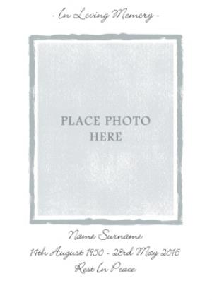 Greeting Cards - Grey And White Personalised Photo Upload With Sympathy Card - Image 1