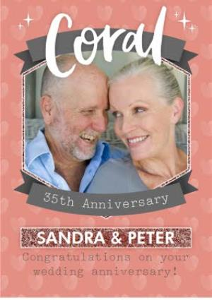 Greeting Cards - Coral 35Th Anniversary Card - Image 1