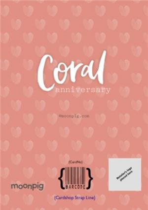 Greeting Cards - Coral 35Th Anniversary Card - Image 4