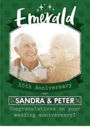 Greeting Cards - Emerald 55Th Anniversary Card - Image 1