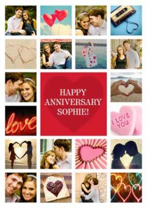 Greeting Cards - Anniversary Card - Happy Anniversary - Photo Upload - Image 1