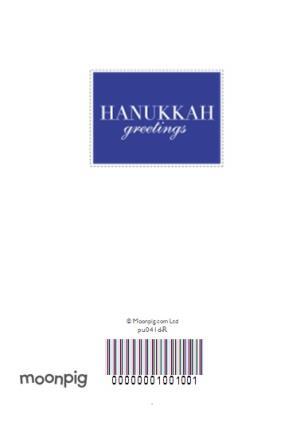 Greeting Cards - Blue Heart Shaped Personalised Photo Upload Happy Hanukkah Card - Image 4
