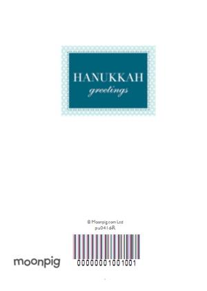 Greeting Cards - Blue Personalised Photo Upload Happy Hanukkah Card - Image 4