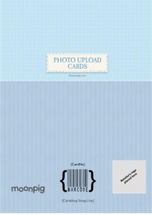 Greeting Cards - Boy's Christening Photo Upload Card  - Image 4