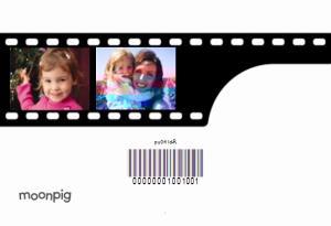 Greeting Cards - Camera Film Strip  Personalised 4 Photo Upload Happy Birthday Card - Image 4