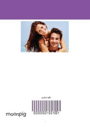 Greeting Cards - Bright Purple Multi-Photo Personalised Birthday Card - Image 4