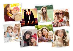 Greeting Cards - Classic 8 Squares Personalised Photo Upload Greetings Card - Image 1