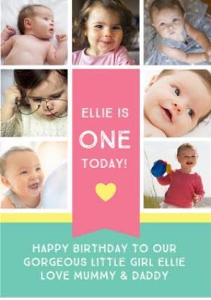 Greeting Cards - 1st Birthday Photo Card - Image 1