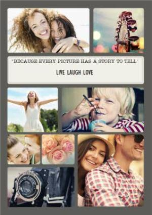 Greeting Cards - Every Picture Has A Story To Tell Personalised Multi Photo Upload Birthday Card - Image 1